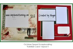 October speed scrapbooking pg1