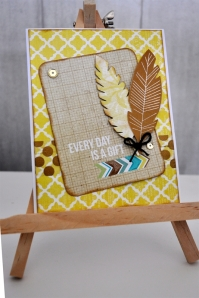 Quick, simple and oh so cute!  The feathers stamp set is a must add on.