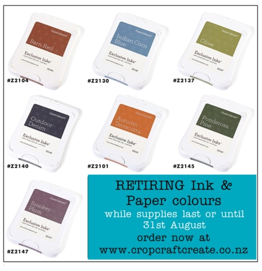 retiring INK colours