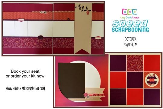 October Speed Scrapbooking kit