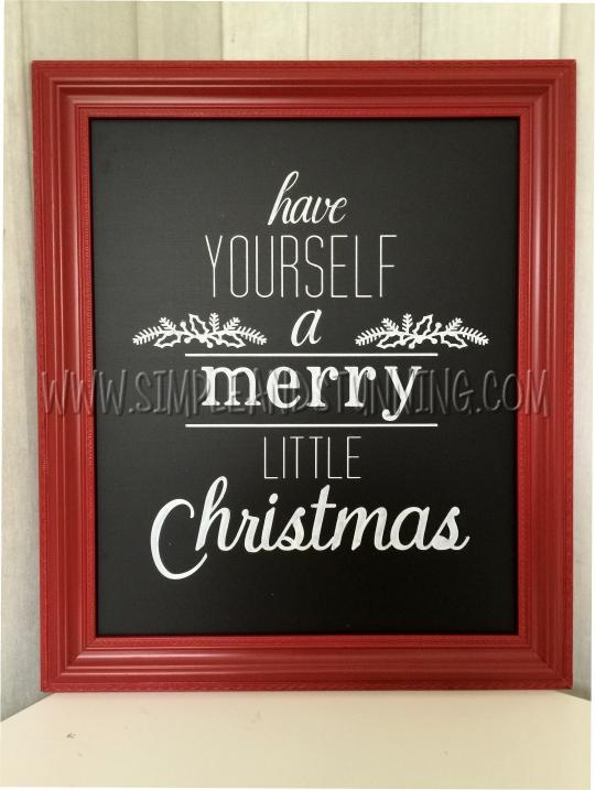 Merry Christmas blackboard